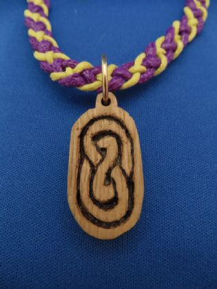 CARVED KNOTWORK PENDANT